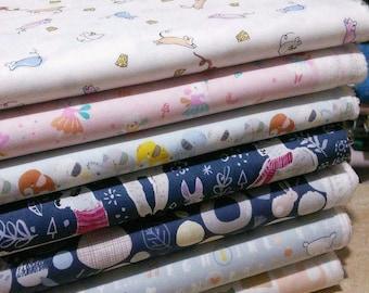 SALE, Bundle, 7 prints, children cotton, Bundle, 1 of each print, quilt cotton, (Reg 26.53-136.43)