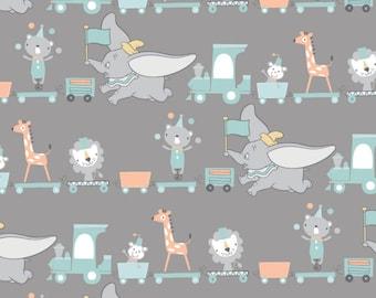 Fabric DUMBO of Disney, gray, #85160303 - My Little Circus of Camelot Fabrics