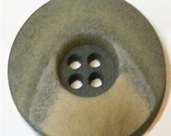 28mm, 2 buttons, Natural Stone, Green Gray, 5mm High, 4 Holes, Decorative Button, Solid Button, Coat Button, BM181