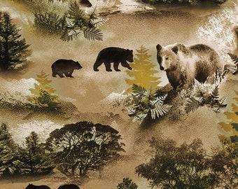 Bear, Lodge Life, 8972, col 77, Benartex, cotton, cotton quilt, cotton designer