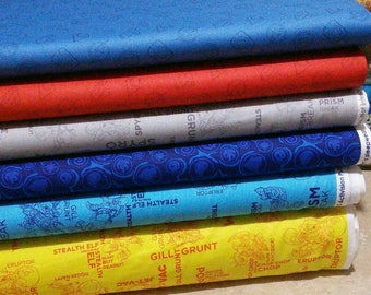 Bundle, 6 designs, Skylanders, Camelot Fabrics, 1 of each design