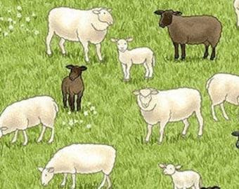 Sheep, Village Life, 2291, Makower, cotton, cotton quilt, cotton designer