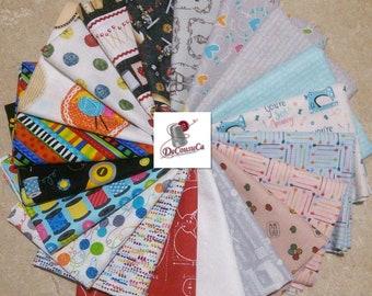 SALE, Bundle of 20 prints, SEWING, Benartex, Robert Kauffman, quilt cotton, (Reg 75.20-389.80)