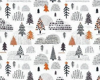 Fabric 100% cotton, Nordic Tundra, 89200702, col 01, WHITE - Penguin Paradise by Puck Selders of Camelot fabrics