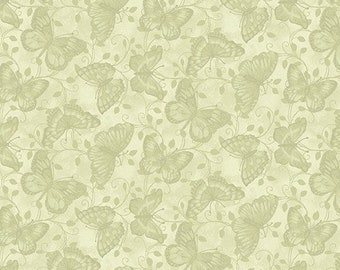 Butterfly, sage, 7682, Butterfly Garden, Benartex, cotton quilt, cotton designer