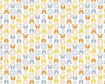 Geometric flowers, Meadow Wildlife, 30190402, col 02, Camelot Fabrics, cotton quilt, cotton designer