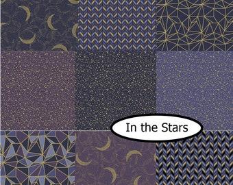 SALE, Bundle, 9 prints, Whitten in the stars, Camelot Fabrics, 100% Cotton, quilt cotton, (Reg 33.84-175.41)