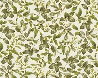 Botanical Leaves, Field of Dream, 8937, Benartex, 100% coton