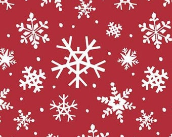 Holly Holiday, Riley Blake Designs, Christmas fabric 100% cotton, #10882 RED