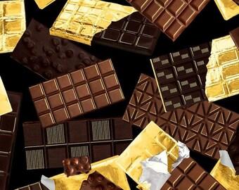 Fabric bar Chocolate, Chocolicious, Kanvas, 9844, col 12, cotton quilt, cotton designer