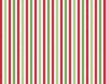 Stripe fabric, Seasonal Basics of Riley Blake Designs, Christmas fabric 100% cotton, #495 CHRISTMAS