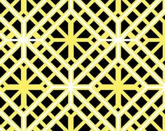 SALE, Geo Treillis, #C8409, 33, Lemon Twist, Benartex, 100% cotton, cotton quilt, cotton designer, (Reg 3.76-21.91)