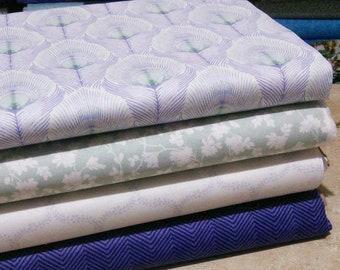 SALE, Bundle, 4 prints, The Violetta of Camelot Fabrics, Quilt cotton, (Reg 15.04-77.96)
