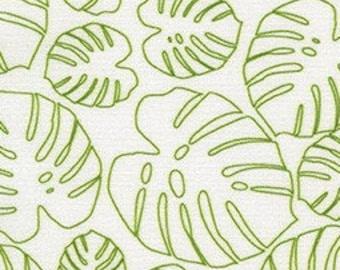 SALE, Leaves, green, ivory, 18494, Robert Kaufman, cotton, cotton quilt, cotton designer, (Reg 3.76-21.91)