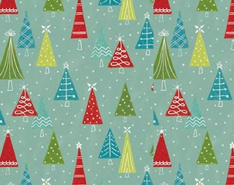 Snowed In, Riley Blake, Christmas fabric 100% cotton, fir, #10814 GLACIER