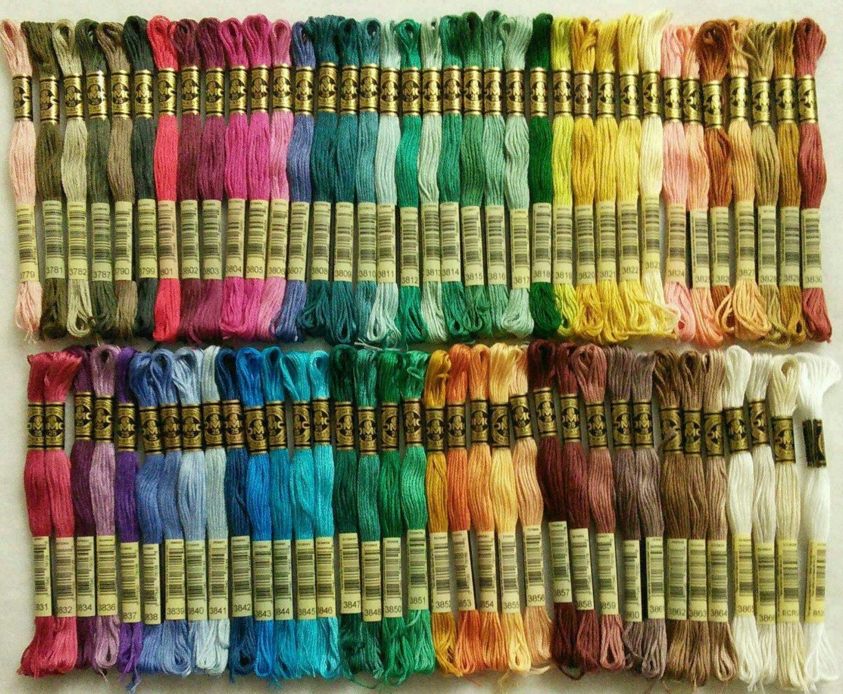 DMC, 3779-3864, Embroidery, thread, DMC, Mouliné 25, art 117 No. 25 ...