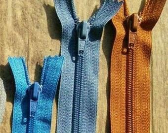 """Zipper, 8""""-10"""", cursur no7, (20cm- 25cm), nylon, perfect for wallets, clothing, repair, creation, Z07"""