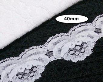 Lace vintage, WHITE, 40mm, vintage lace
