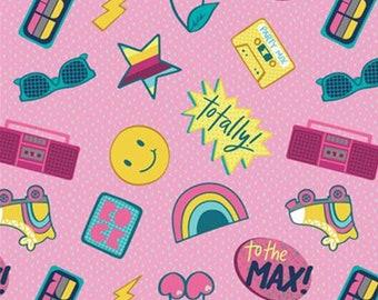 Stickers, pink, 27180402, Retro Blast, Camelot Fabrics, cotton, cotton quilt, cotton designer
