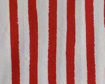 Stripe, red, white, 19936, col 3, Robert Kaufman, 100% coton