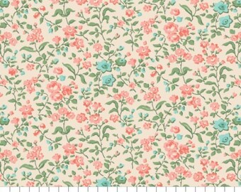 Fabric 100% cotton, Tinsley, 7140801, col 06, CREAM - The Notthingham of Laura Ashley, Camelot fabrics