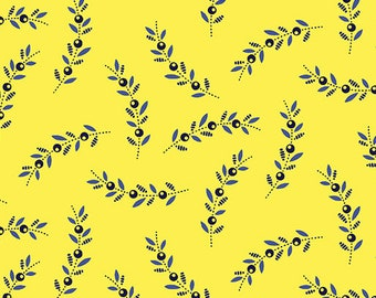 Sprigs Yellow, Somerset, 6795, col 33, Benartex, cotton, cotton quilt, cotton designer
