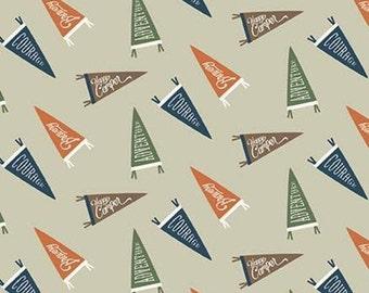 Adventure is Calling of Riley Blake Designs, KHAKI, #10723 , fabric, cotton, quilt cotton