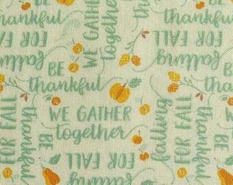 SALE, Ode to Fall, orange, turquoise, white, 66180206, col 01, Autumn Impressions, Camelot Fabrics, cotton, cotton quilt, (Reg 3.76-21.91)