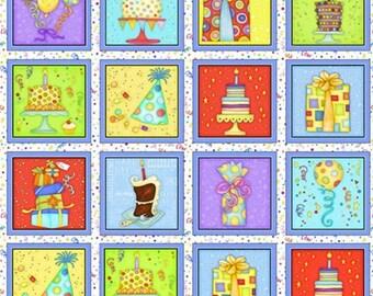 Panel, 28 prints, Let's Celebrate, Beth Logan, Henry Glass, 1071, Multiple quantity cut 1 piece, Cotton