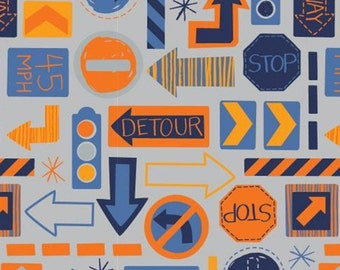 Traffic signs, 27190101, col 05, On the Move, Camelot Fabrics, cotton, cotton quilt, cotton designer