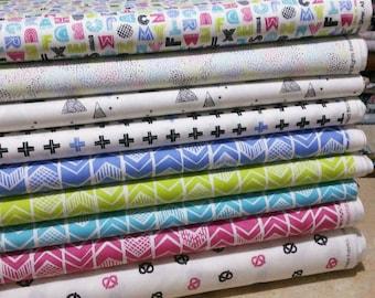 SALE, Bundle, 9 prints, Mod Block, Camelot Fabrics, Cotton, quilt cotton, (Reg 33.84-175.41)