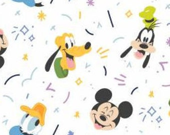Mickey Mouse, MM Play All Day Boy, 85271024, 01, WHITE, Mickey Mouse Play All Day of Camelot Fabrics