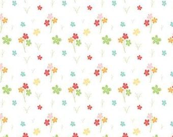 Flower, Strawberry Honey, C10244, WHITE, Riley Blake, cotton quilt, cotton designer