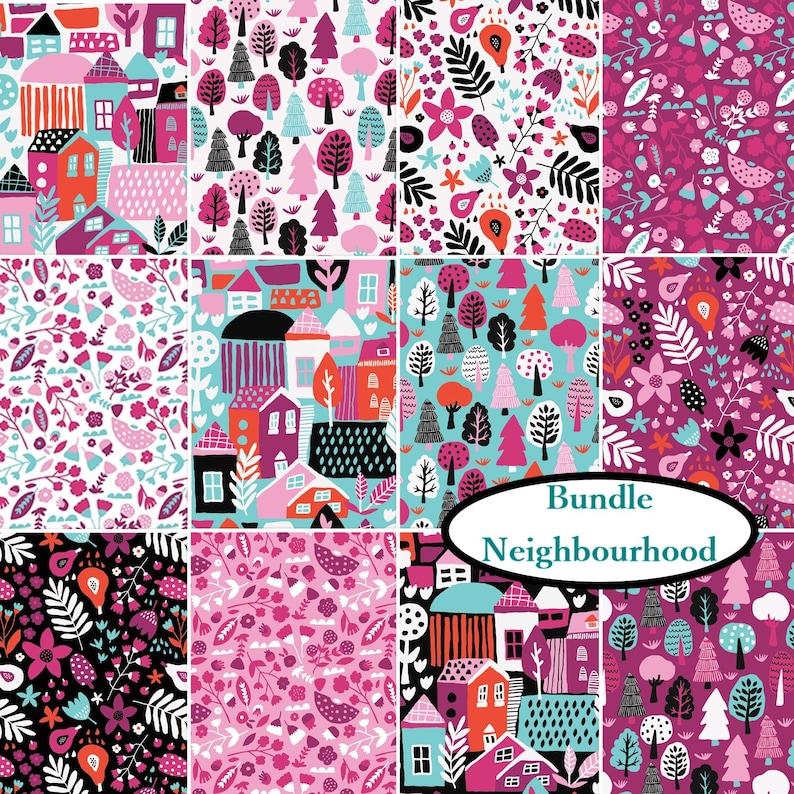 100/% Cotton Flowers in purple Neighbourhood Camelot Fabrics 31170104 col 03