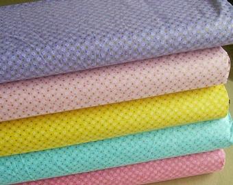 SALE, Bundle, 5 prints, Floral, dot gold, Floral Dots, Quilt cotton, (Reg 18.80-97.45)