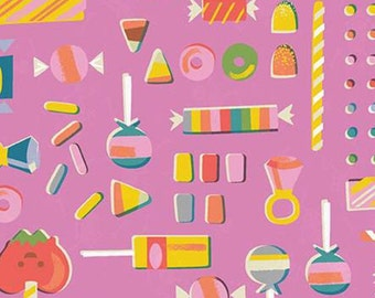 Halloween Fabric- Candy, Halloween, PINK, Tiny Treaters, 10482, Riley Blake, fabric, cotton, quilt cotton