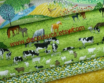 Bundle, 8 motifs, Village Life, Makower, quilt cotton, designer cotton