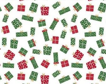 Christmas Adventure, Riley Blake Designs, Christmas fabric 100% cotton, gift, #10734 WHITE