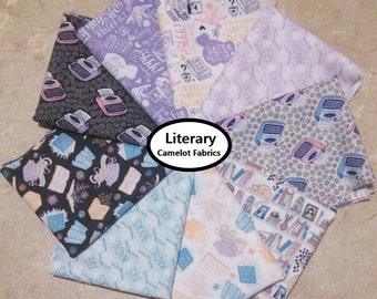 Bundle, 9 designs, Literary, Camelot Fabrics, 100% cotton