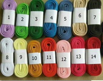 """5 yards of Bias double, 1/2"""", (13mm), various colors, polyester, cotton"""