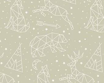 Adventure is Calling of Riley Blake Designs, Fabric animals, KHAKI, #10722 , fabric, cotton, quilt cotton