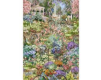 Bike, Garden Sanctuary, 4832, Timeless Treasures, 100% Cotton