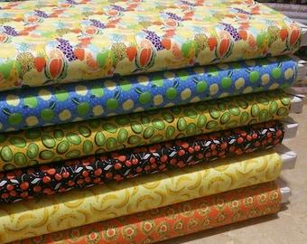Bundle, 6 prints, Fruits, Feeling'Fruity, Camelot Fabrics
