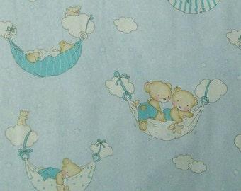 Bear, blue, Rudia Collection, cotton, cotton quilt, cotton designer