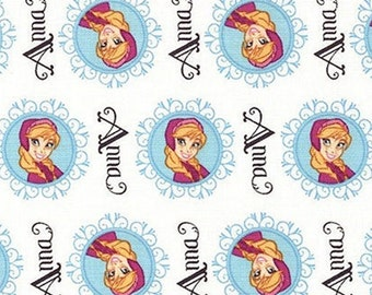 Anna, Frozen, 85190906, col 01, Camelot Fabrics, cotton, cotton quilt, cotton designer