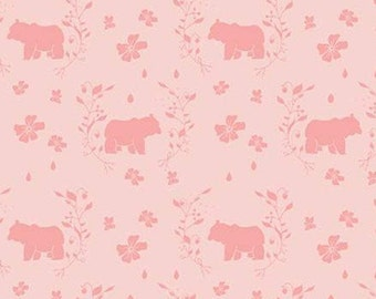 Bear, Strawberry Honey, C10243, BLUSH, Riley Blake, cotton quilt, cotton designer