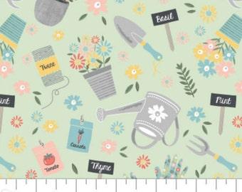 Gardening, Wish for Rain, 89191001, col 02, Camelot Fabrics, 100% Cotton