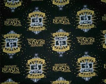 Harry Potter, Wizarding World, Fantastic Beast, 23900101, col 01, Camelot Fabrics, cotton, cotton quilt, cotton designer