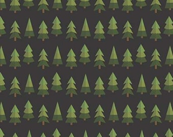 Holly Holiday, Riley Blake Designs, Christmas fabric 100% cotton, #10883 CHARCOAL