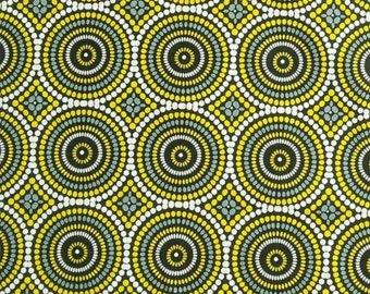 Mosaic Dots, grey/yellow, 3426, Geo Pop, Benartex, cotton, cotton quilt, cotton designer